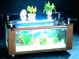 aquarium coffee tables fish tank table diy decorations for party room