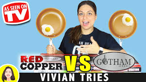 RED COPPER vs GOTHAM STEEL COPPER PAN REVIEW ...