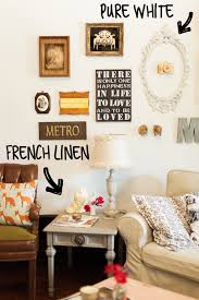 living room wall decorating on a budget