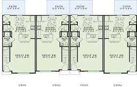 MultiFamily Plan 82288 At FamilyHomePlanscomQuadplex Plans