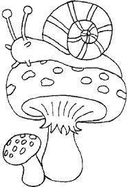 Coloriage Champignon Et Escargot Imprimer Sur Coloriages Info Dessins De Champignons Az Coloriage L L L L L