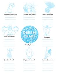 My Dream Chart Disney Inspired New Years Dream Chart The Healthy Mouse
