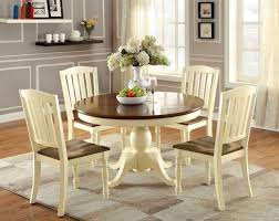 66 Round Dining Table 66 Sutton Oval Vintage White Cherry Dining Table Set