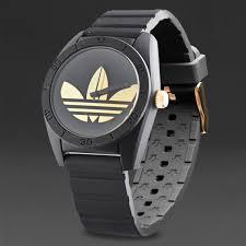 adidas originals santiago watch mens select accessories black gold adidas originals santiago watch black