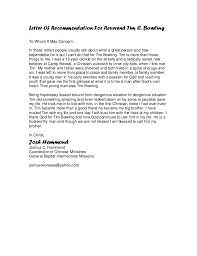 Letter Of Recommendation For Youth Leader Cover Letter Samples