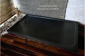 stone shower base 36 x 60 shower pan stylish stone shower base pertaining to black granite trench x shower pan
