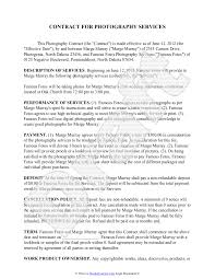event agreement contract photography contract template free sample for wedding portrait