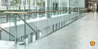 barade railing system for commercial interior or exterior balcony railing or stair railing frameless glass clamp railing system
