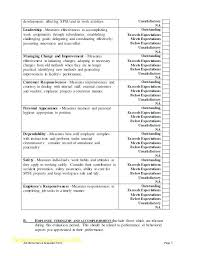 Employee Performance Evaluation Forms Staff Review Template Free ...