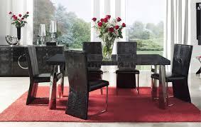 dining room modern black sets  redtinku