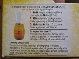 good seasonings packet italian dressing