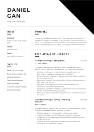 Brilliant and creative it professional with bachelor's degree in information technology and. Front End Developer Resume Example Resume Examples Basic Resume Examples Administrative Assistant Resume