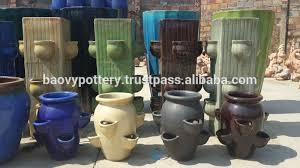 tall garden pots tall big round glazed outdoor ceramic potslarge garden potsred
