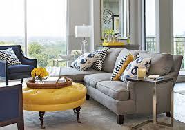 Yellow Print Living Room Chairs