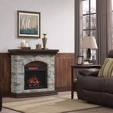 duraflame 45 in w aged coffee infrared quartz electric fireplace