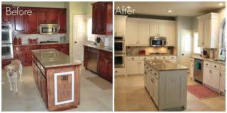 kitchen cabinets painted white before and afterGlancing Painting Oak Kitchen Cabinets Chalk Paint Kitchen