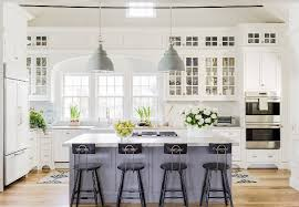 classic kitchen design. Classic American Kitchen, This Coastal Kitchen Features A Fresh Color Palette With Soft Grays Design