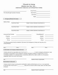 Medical Release Form For Grandparents Emergency Medical Release Form Template Treatment For Minor