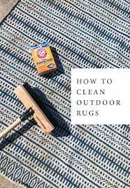 how to clean outdoor rugs unless the outdoor rug is resin polyester woven you most likely will battle green mildew dirt or weather stains on your