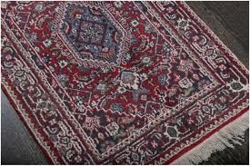 rugsville persian style rust blue hand knotted wool rug 60 x 90