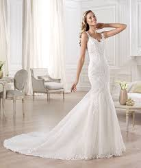 gorgeous pronovias ombu low back fishtail lace ivory wedding dress