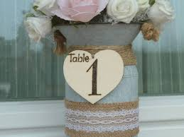 wedding table numbers with centerpiece rustic table numbers wooden table numbers country barn wedding decoration