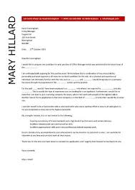 Cover Letter For Office Manager Office Manager Cover Letter Example