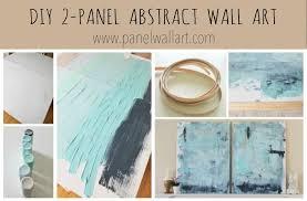 diy ocean hand painting wall art canvas by panelwallart com