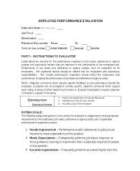 Employee Self Evaluation Template Report Format Performance ...