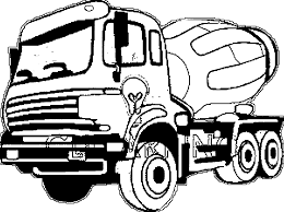 Cement Truck Coloring Pages | Wecoloringpage