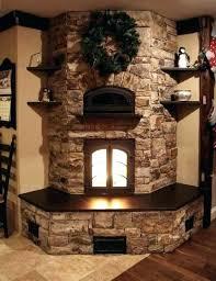 stone corner electric fireplace stand tv stone corner electric
