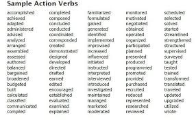 resume verb