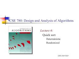 Quick Sort In Design And Analysis Of Algorithms Ppt Cse 780 Design And Analysis Of Algorithms Powerpoint