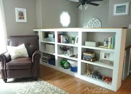 not ordinary raised ranch just call homegirl bookcaserevampwm half wall bookshelf built bookcase designs door
