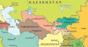 Image result for central asia map