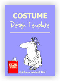 Simple Costume Design Template Drama Notebook