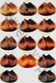 Copper Red Hair Color Chart 8 4 8 43 7 45 7 46