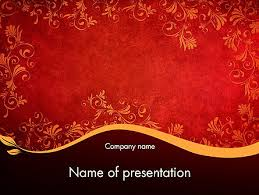 oriental powerpoint template and gold floral pattern powerpoint template backgrounds