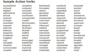 Action Words List Brilliant Resume Examples Action Verbs For Resumes