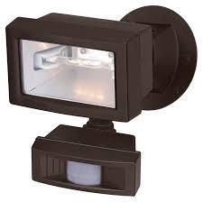 nuvo 76505 exterior flood light motion sensing black 5 inch wide outdoor flood lighting loading zoom