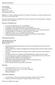 ... Surgical Tech Resume Sample 4 It ...