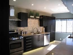 Appealing Glass Tile Backsplash Kitchen Decorating Ideas With Dark