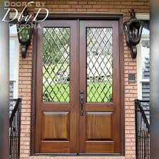 custom glass front doors made from