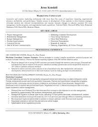 Marketing Consultant Resume Consulting Resume Template