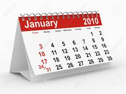 2010 Calendar January 2010 Year Calendar January Isolated 3d Image Stock Photo Picture