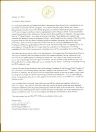 Army Letter Of Recommendation Letter Format Template