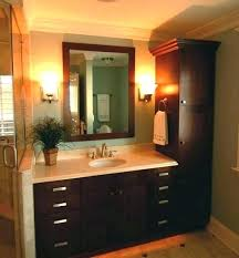 bathroom vanity and linen cabinet. Linen Bathroom Cabinet Vanity Interesting With Chic . And W