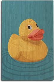 For mammal wildlife sculptures browse through sculptures in cabin decor. Amazon Com Rubber Duck Letterpress 10x15 Wood Wall Sign Wall Decor Ready To Hang Posters Prints