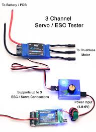 brushless motor wiring diagram images channel servo esc tester flying tech