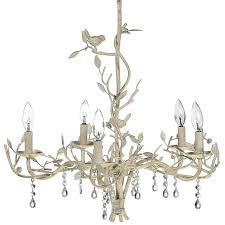 metal bird and twig chandelier